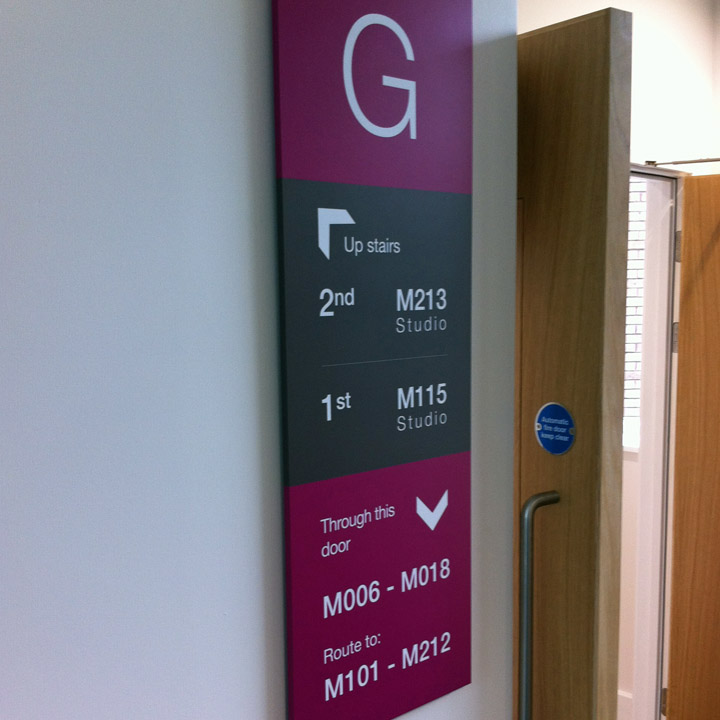 Wayfinding Signs   Signs & Graphics Cambridge